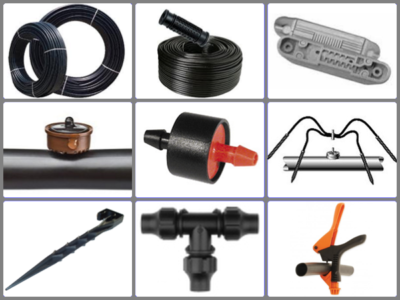 1. Driplines, Drippers, PE-pipes & Accessories